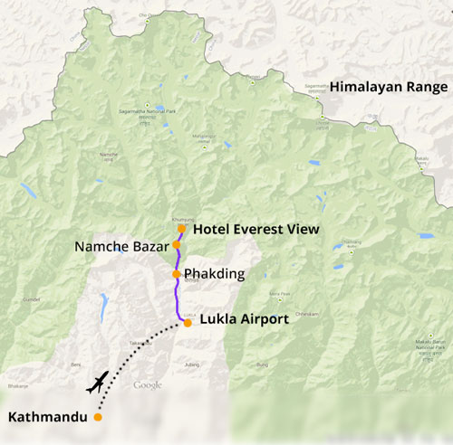 how to get to Hotel Everest View
